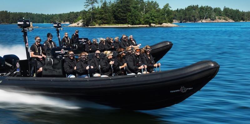 Rib båt i Skärgården