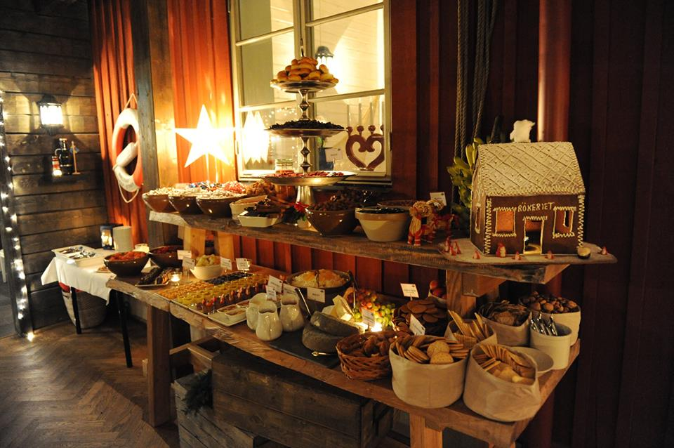 Julbord på Fjäderholmarna
