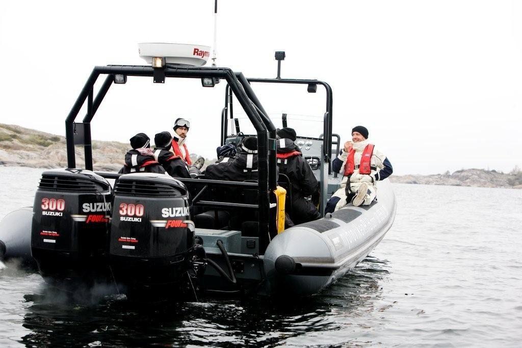 Rib båt i Stockholms Skärgård