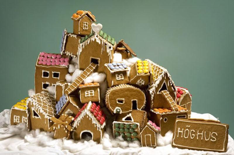 Pepparkaksbygge och julbord i Stockholm