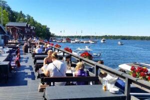 Sommarfest och ölprovning på Fjäderholmarna