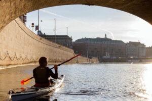 Kajakpaddling i Stockholm