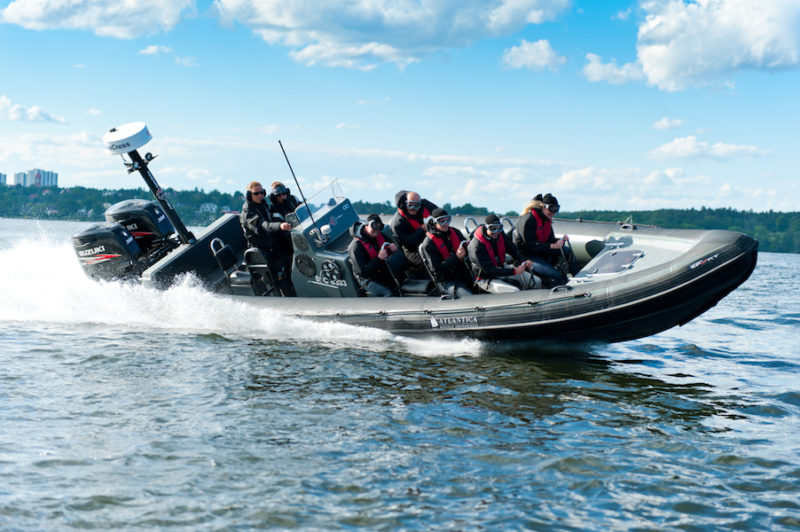 Rib båt i Stockholm