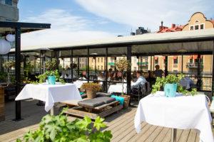 Sommarfest på takterrass i Stockholm